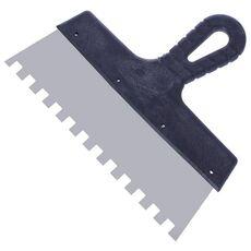 Шпатель нерж. с пласт. ручкой 200 мм, зуб 10х10
